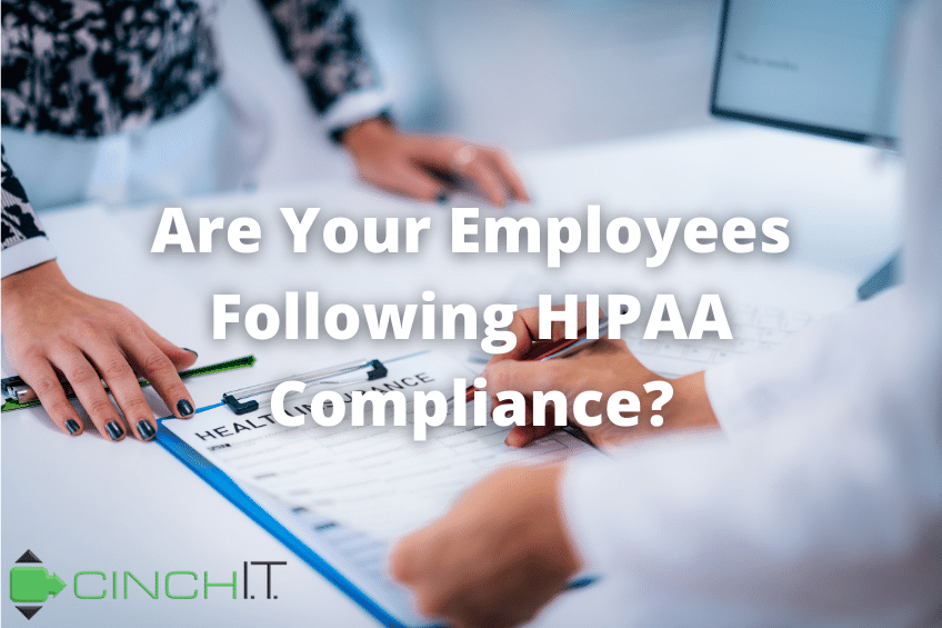 Are Your Remote Employees Following HIPAA Compliance? Medical professional discusses health insurance data on clipboard with patient.